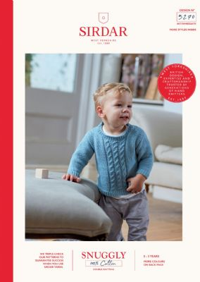 Sirdar Snuggly 100% Cotton Knitting Pattern Booklet - 5270 Sweater & Tank Top
